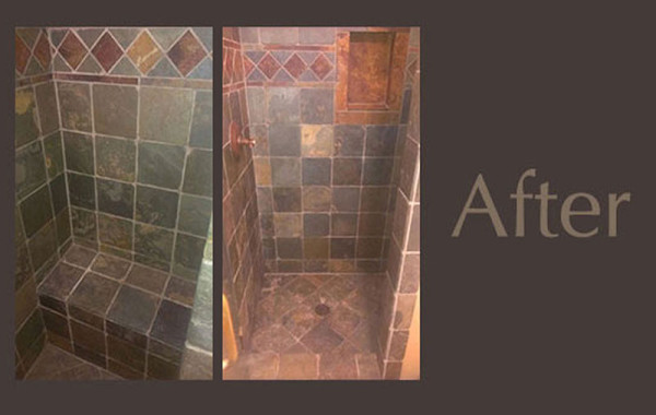 Slate Shower Cleaned & Restored