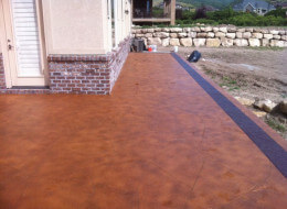 Should I Use A Particular Color Acid Stain For My Exterior Concrete?